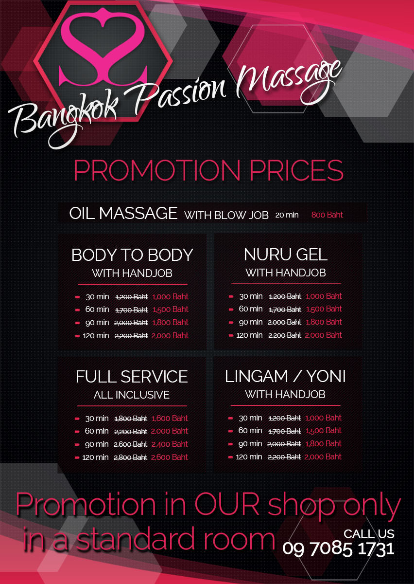 Bangkok Passion promotion happy ending and full service massage